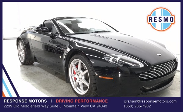 Used 2008 Aston Martin V8 Vantage Roadster Used 2008 Aston Martin V8 Vantage Roadster for sale Sold at Response Motors in Mountain View CA 2