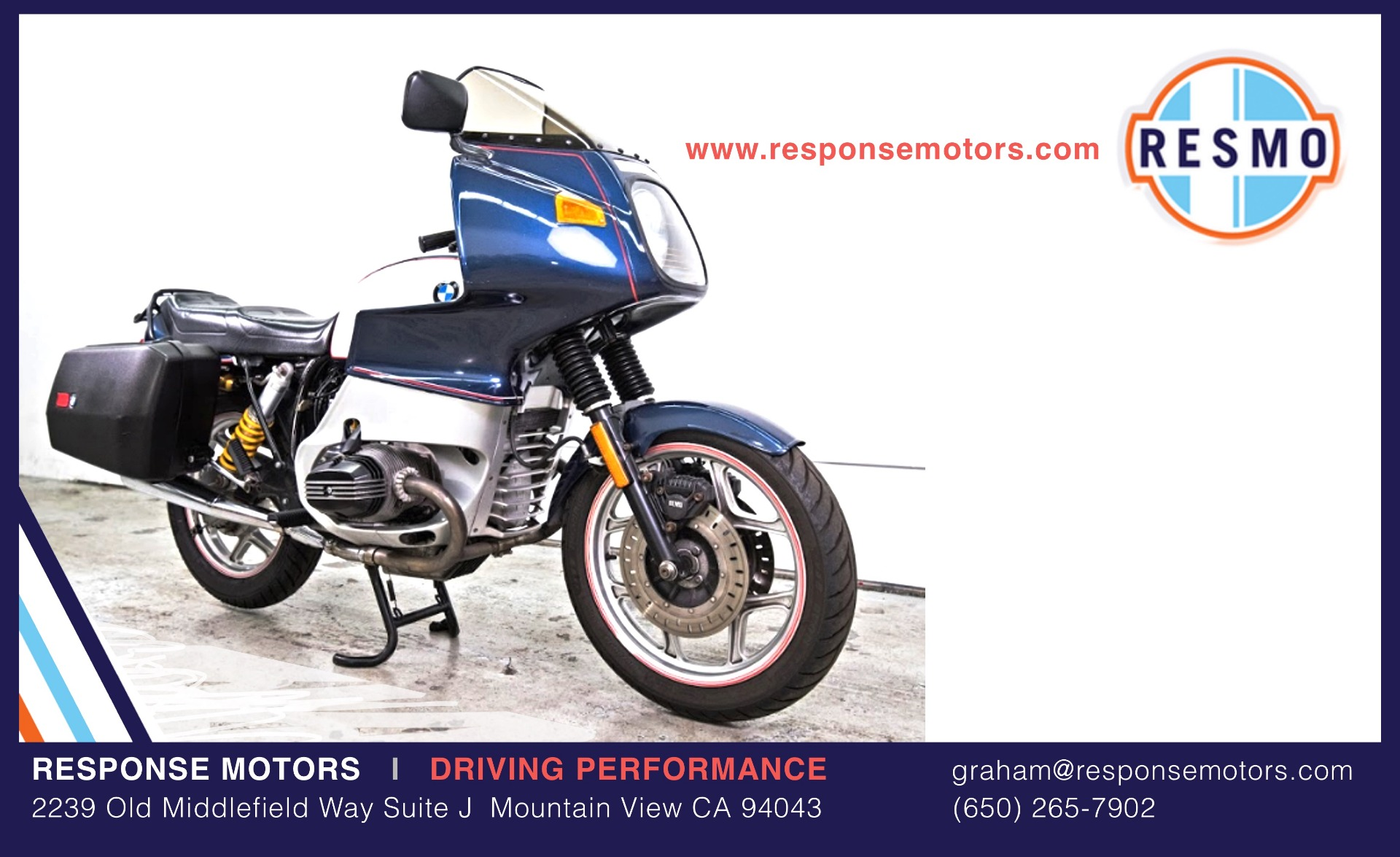 Used 1992 BMW R100RS Used 1992 BMW R100RS for sale Sold at Response Motors in Mountain View CA 2